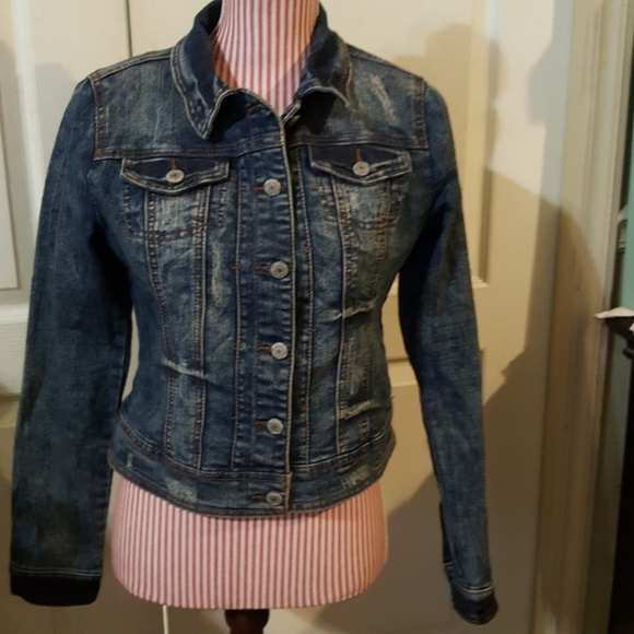 d005c706b4acc6 Almost Famous Jackets   Blazers - Almost Famous Distressed Jean Denim Jacket .